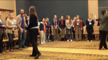 Co-facilitating the Chant Circle at the National Music Therapy Conference in 2013
